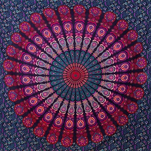 MOMOMUS Mandala Wandteppich - Großes Mandala Strandtuch - Pareo Tuch groß - 100%...