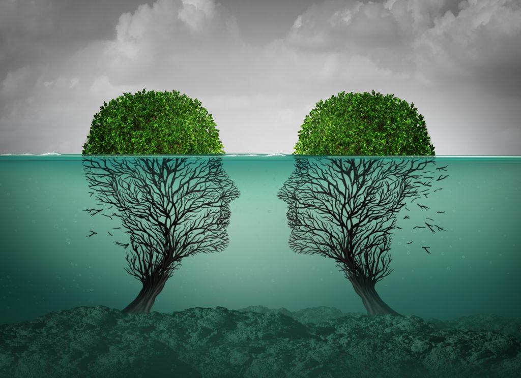 Zwei menschen lieben psychologie