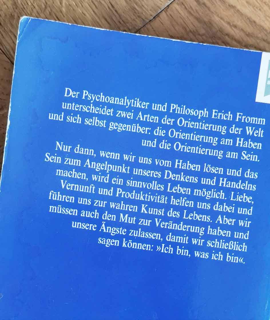 Erich Fromm Buch: Vom Haben zum Sein